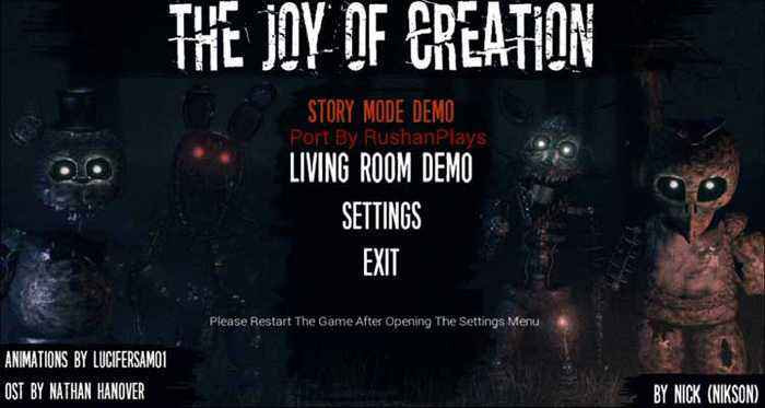The Joy of Creation: Story Mode Free Download